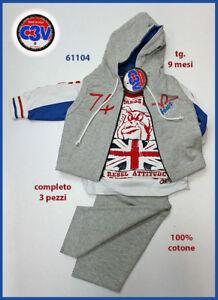 Completo-Nino-Recien-Nacido-3Pcs-Gile-039-Capucha-Abierto-Camiseta-Pantalones-9