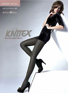 Thick-Opaque-Tights-034-Diverse-034-100-DEN-satin-gloss-S-M-L