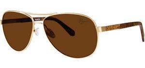 Original-Penguin-The-Davis-Polarized-Men-039-s-Brass-Tone-Aviator-Sunglasses