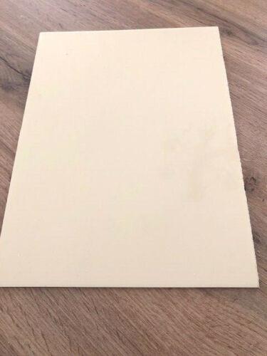 vintage cream Pickguard Material 1 ply