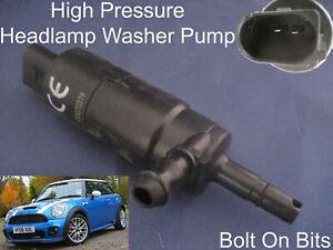 Scheinwerfer / Unterlegscheibe Spray Reinigung Pumpe Mini 2007 Zu 2013 & Cabrio