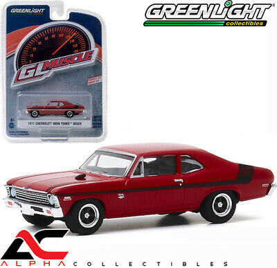 Greenlight 13270-E GL Muscle Series 23 1971 Nova Yenko Deuce Hugger Orange 1//64 Scale