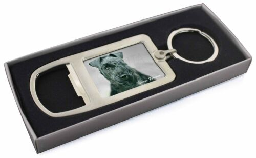 Kerry Blue Terrier 'Yours Forever' Chrome Metal Bottle Opener Keyrin, ADKB1yMBO