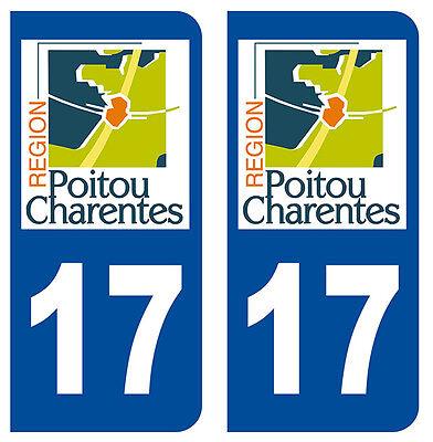 Automobilia Audacious 17 Charente-maritime Departement Immatriculation 2 X Autocollants Sticker Autos Customers First