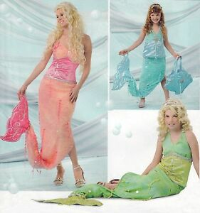 MERMAID-COSTUME-All-Sizes-from-Child-to-Adult-2-16-UNCUT-Sewing-Pattern