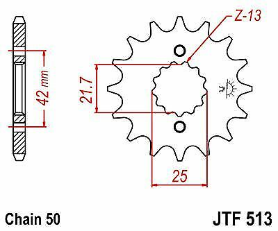 80-83 JT Front Sprocket JTF513 16t fits Kawasaki Z400 J1-J3 4 Cyl KZ400J