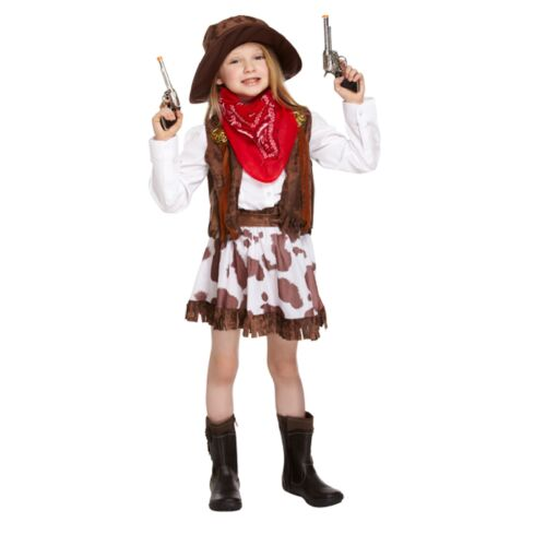 Cowboy Cowgirl Childs Fancy Dress Up Costume Outfit Western Wild Outfit Hat Kids
