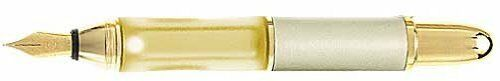 SENSA PEN MERIDIAN CHAMPAGNE & GOLD FINE PT FOUNTAIN PEN NEW I BX MADE IN USA