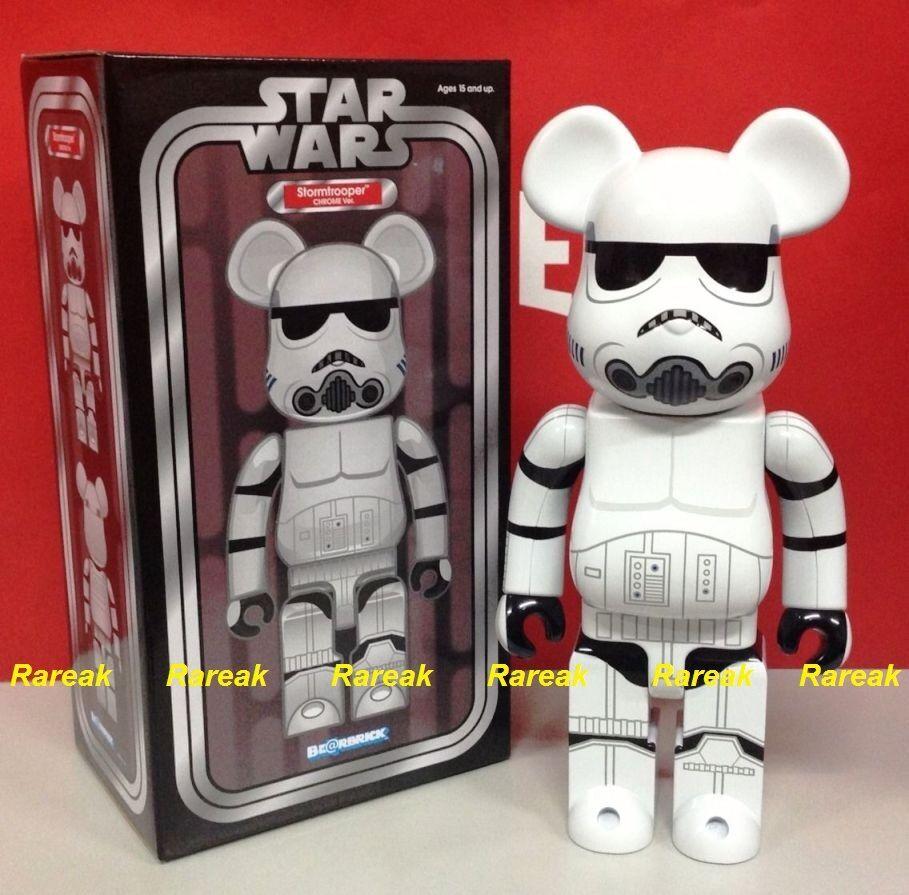 Medicom 2015 Expo Be@rbrick Estrella Wars 400% de Stormtrooper Cromado Bearbrick 1pc