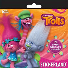 120  Dreamworks Trolls Grovvy Stickers Party Favors Teacher Supply Poppy #2
