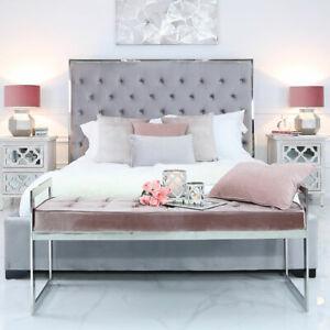 Zenn Stainless Steel Pink Upholstered Bench Padded Hallway Bedroom Bed Seat Ebay
