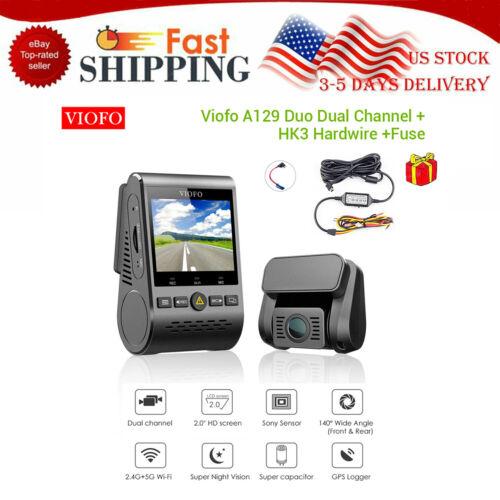 Original Viofo A129 Duo GPS Wifi Car Dash Cam w// Parking Monitor Hard Wire Kit