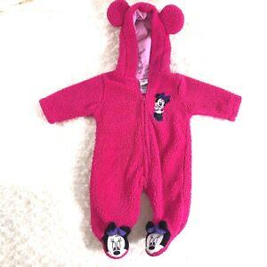 a70e86fe2 Disney Infant Baby Sz 3 months Minnie Mouse 1 Piece Zip Up Snowsuit ...