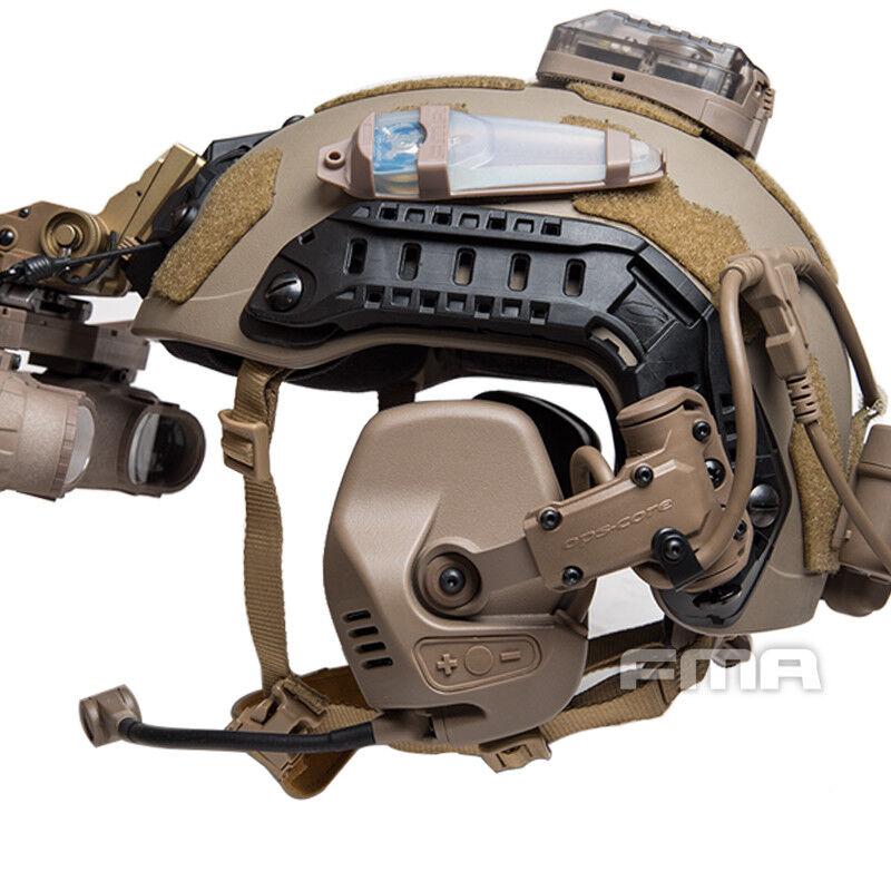 FMA táctico Rac PTT Real Auricular para rápido SF Highcut casco Carril de guía