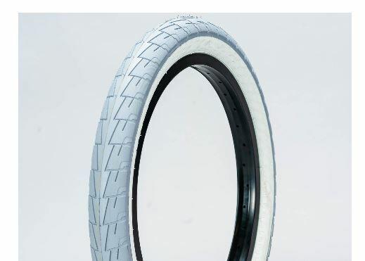 MAFIABIKES Lagos Grey White 20 x 2.40 BMX Tyre Set (set of 2 tyres)
