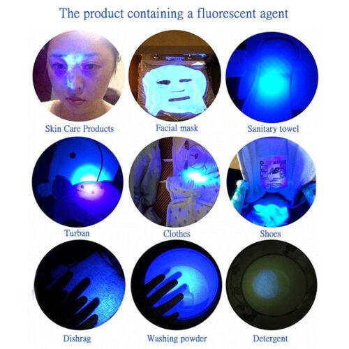 UV Ultra-Violet LED Flashlight Blacklight Light 395//365nM Inspection Lamp Torch/_
