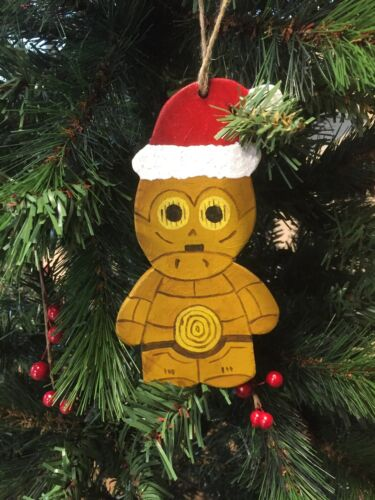 Star Wars C3P0 Hand Made Wooden MDF Christmas Decoration