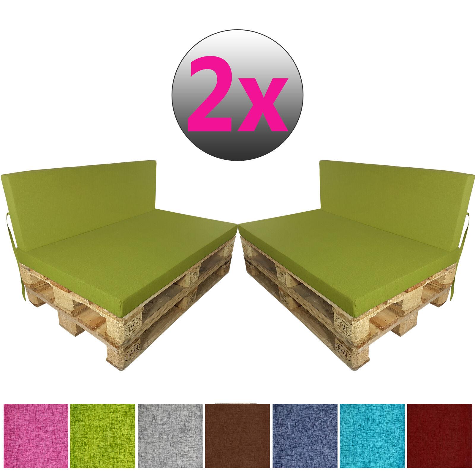 Palettenkissen 4-tlg Set Set Set Euro Paletten-Polster Auflage Sitzpolster Sitzkissen 9dc5f1