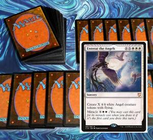 mtg-WHITE-ANGELS-DECK-Magic-the-Gathering-rares-60-cards-linvala-avacyn-sephara