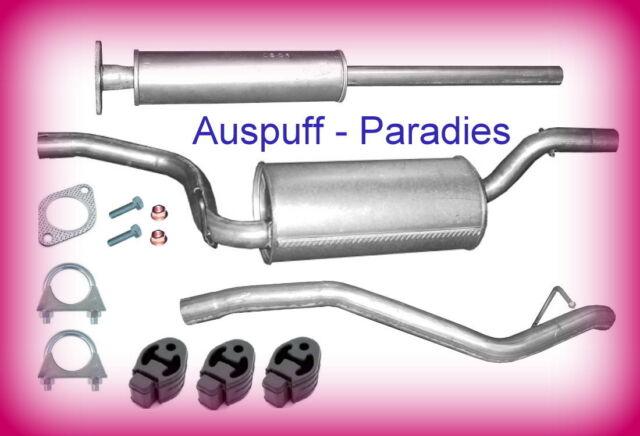 Abgasanlage Auspuff Schalldämpfer Ford Focus II 1.4 & 1.6 Tunier/Kombi (DA) +Kit