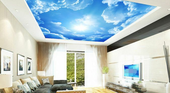 3D bluee Sky Cloud WallPaper Murals Wall Print Decal Deco AJ WALLPAPER GB