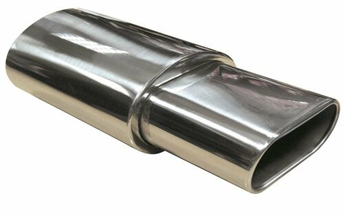 Stainless Steel Sports Muffler Back Box oval Round Exhaust Tip universal sports