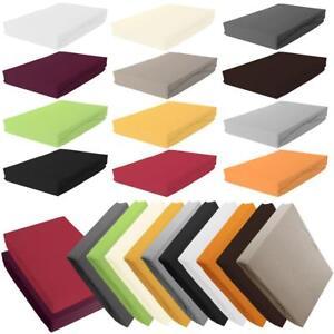 spannbettlaken spann bettuch jersey 100 baumwolle 70x140 90x200 100x200 200x200 ebay. Black Bedroom Furniture Sets. Home Design Ideas