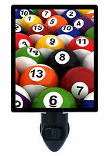 Night Light - Billiards - Pool - Stripes and Solids - Pool Table