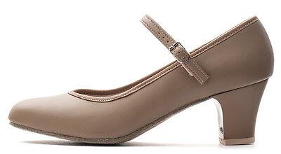 Damen hautfarbene wildleder-sohle Ballsaal Jive Cerco linie-tanz Schuhe