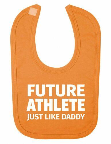 Future Athlete Just Like Daddy Design Funny Cute Newborn Toddler Baby Bib