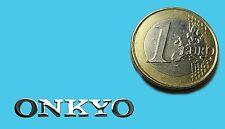 ONKYO METALISSED CHROME EFFECT STICKER LOGO AUFKLEBER 30x5mm [390]