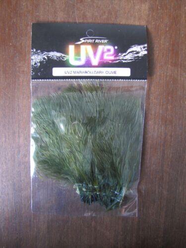 Fly tying SPIRIT river UV2 Marabou olive foncé