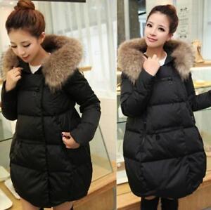 donna Giacche in allentato con in con cappuccio cotone da caldo intimo invernale cappuccio pelliccia V402 ptpawqnrH