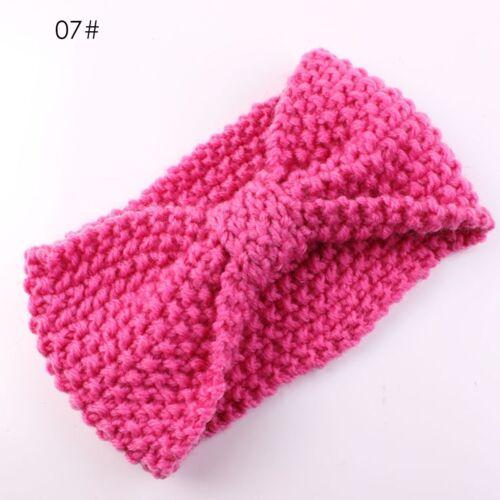 Kids Girl Baby Toddler Crochet Bow Headband Hair Band Accessories  Winter Warm