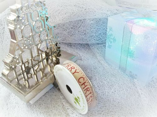 Christmas Festive SANTA HOLLY IVY LET IT SNOW 5m mini reel 4m 10mm /& 15mm