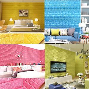 Das Bild Wird Geladen 3D Ziegel Muster Schlafzimmer Wohnzimmer Modern Wand  Hintergrund