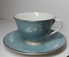 ROYAL DOULTON REFLECTIONS BLUE TEA CUP AND & SAUCER REPLACEMENT ENGLAND