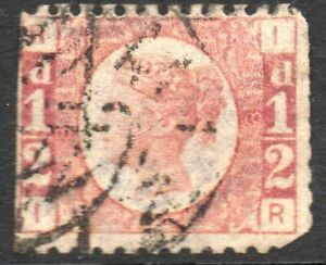 1870-Sg-48-d-Rose-red-Plate-8-with-Double-Circle-Cancellation-Good-Used