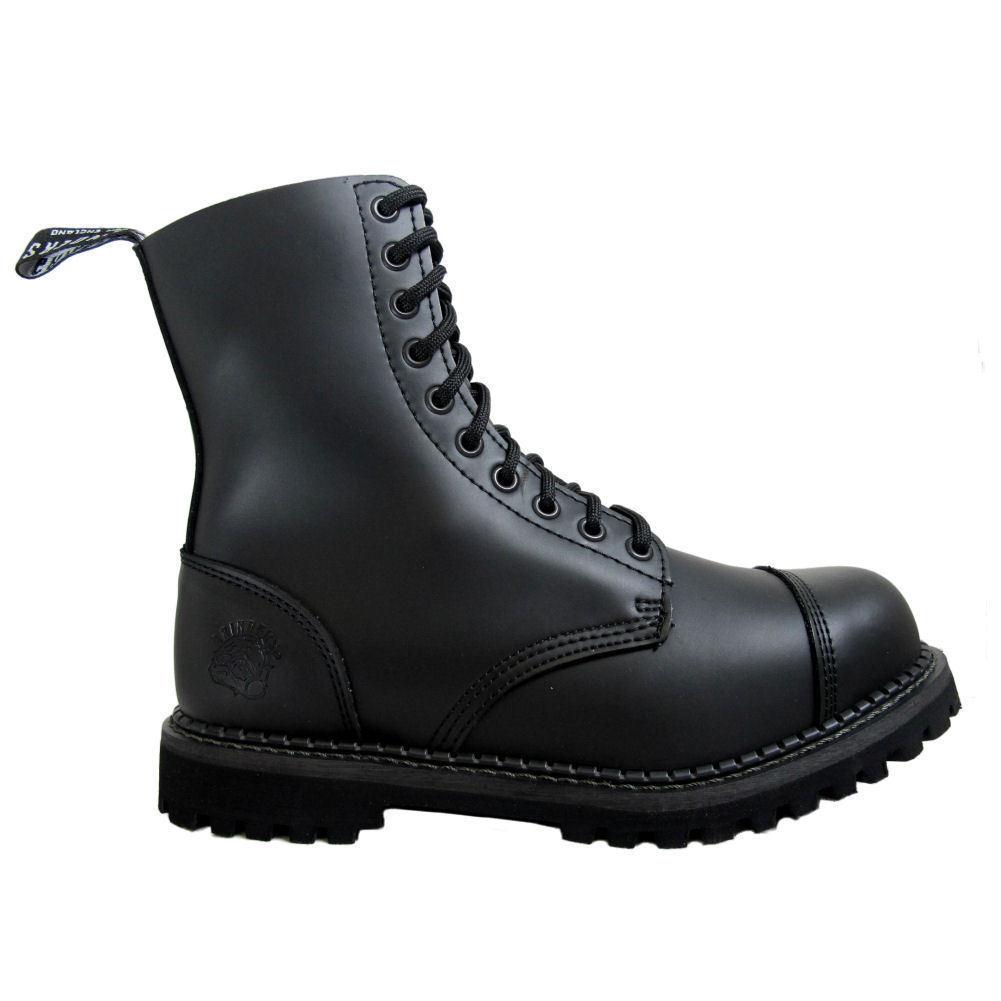 Linea Donna Uomo Grinders Cervo Pelle Nera Punta PAC boots 10 Occhielli COMBAT UNIFORM boots PAC 2e1b3e