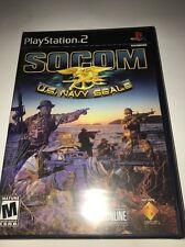 Socom Us Navy Seals PS2 Playstation 2 Game-TESTED-RARE COLLECTIBLE-SHIPS N 24 H