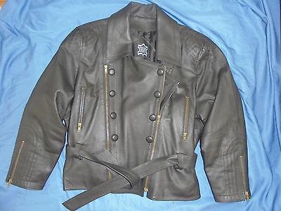 Damen Bikerjacke Motorradjacke Lederjacke Leatherjacket Gr  42 44 L