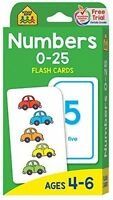 Numbers 0-25 Flash Cards, Children Games School Activities Math Education on sale