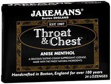 Jakemans Throat - Chest Lozenges Anise Menthol 24 Each