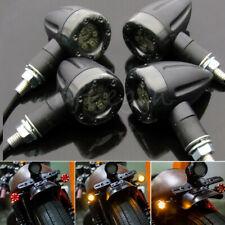 Black Motorcycle Led Bullet Brake Turn Signal Tail Light For Harley Honda Suzuki