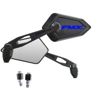 Espejos-Retrovisor-Street-Carbon-Look-Logo-Azul-Honda-Fmx-650-Sm-Supermotard