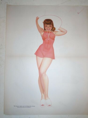 "1941 Petty Girl Original Esquire Gatefold ""My lawyer wants me "" Scarce"