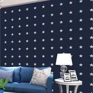 Navy Blue Stars WALLPAPER KIDS BABY ROOM BOY
