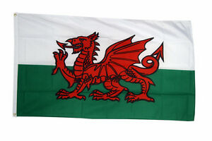 Wales-National-Flag-Large-5-x-3-FT-100-Polyester-With-Eyelets-Welsh-Dragon