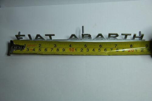 "Clásico /""Fiat Abarth/"" Emblema De Metal Cromado-Alta Calidad A Estrenar"