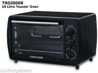 Black & Decker Tro2000r 220v 19l Toaster Oven Rotisserie 220 Volt (non-usa)